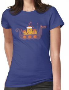 Viking Party Animals in a  Dragon Boat Womens Fitted T-Shirt