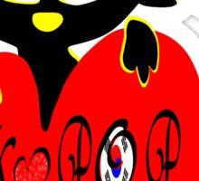 Black kitty love KPOP vector art Sticker