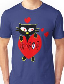Black kitty love KPOP vector  art Unisex T-Shirt