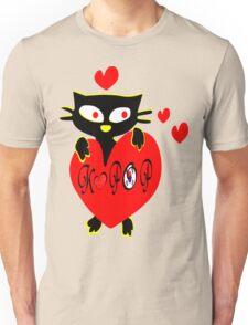 Black kitty love KPOP vector  art Unisex T-Shirt