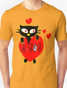 Black kitty love KPOP vector  art T-Shirt
