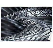 Berlin, Olympic Stadium, roof construction Poster