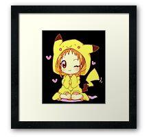 Anime Chibi - Pikachu Framed Print