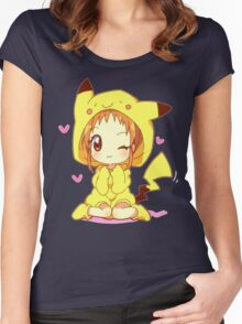 Anime Chibi - Pikachu Women's Fitted Scoop T-Shirt