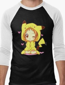 Anime Chibi - Pikachu Men's Baseball ¾ T-Shirt