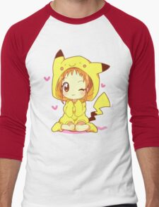 Anime Chibi - Pikachu Men's Baseball ¾ T-Shirt
