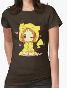 Anime Chibi - Pikachu Womens Fitted T-Shirt