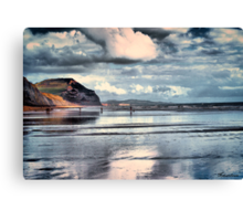 Low Tide at Charmouth Canvas Print