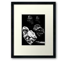 broken bust Framed Print