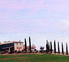 Tuscan Row-Tuscany by Deborah Downes