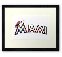 Miami Marlins Framed Print