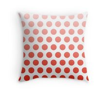 Red Ombre Polka Dots Throw Pillow