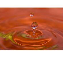 Orange H2O Photographic Print