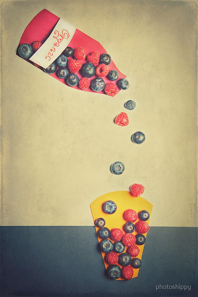Fruits on paper  by Krisztian Sipos