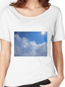 Dark clouds, blue sky and bright sun Women's Relaxed Fit T-Shirt