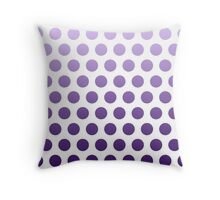 Purple Ombre Polka Dots Throw Pillow