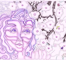 'Alight with Blossom ~ Intended Lavender' Pieces Art™ by Kayla Napua Kong