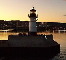 1909 Sunset Lighthouse ~ DULUTH by kodakcameragirl