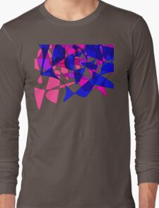 Colorful Modern Abstract Swirly Graphic Long Sleeve T-Shirt
