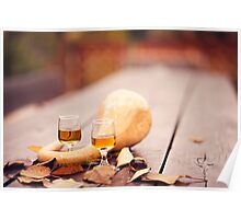 Wine in autumn Poster