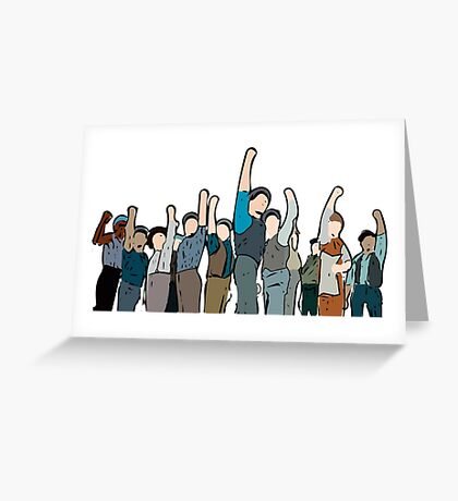 Newsies Newsboys Strong and Defiant Greeting Card