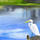 Great Egret by Maria  Williams
