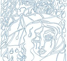 'Rain On Me In The Blackground ~ The Blueprints' Pieces Art™ by Kayla Napua Kong