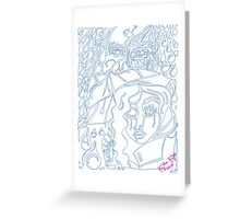 'Rain On Me In The Blackground ~ The Blueprints' Pieces Art™ Greeting Card