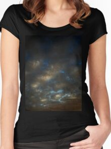 October Sunset (2388) Women's Fitted Scoop T-Shirt
