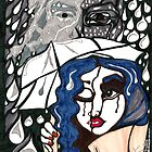 'Rain On Me In The Blackground' ~ Original Pieces Art™ by Kayla Napua Kong