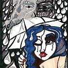'Rain On Me In The Blackground' ~ Original Pieces Art™ by Kayla Napua Kong