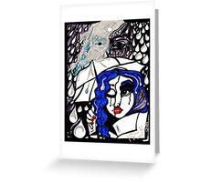 'Rain On Me In The Blackground ~ Glitter in the Dark' Pieces Art™ Greeting Card