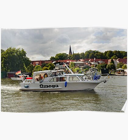 MVP103 Boating through Malchow, Germany. Poster