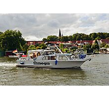 MVP103 Boating through Malchow, Germany. Photographic Print