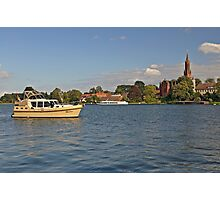 MVP104 Boating at Malchow, Germany. Photographic Print