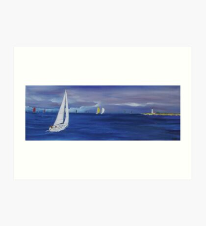 Sailing week Art Print