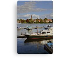 MVP105 Malchow Harbour, Germany. Canvas Print