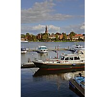 MVP105 Malchow Harbour, Germany. Photographic Print