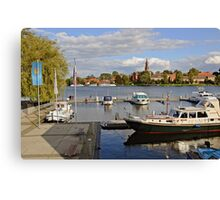 MVP106 Malchow Harbour, Germany. Canvas Print