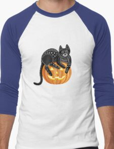 Hello Halloween Men's Baseball ¾ T-Shirt