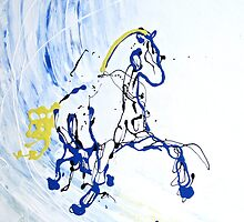Trot in Blue by Emily McIntosh