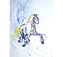 Trot in Blue Photographic Print