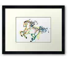 Canter in Color Framed Print