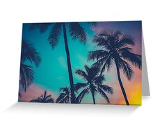 Hawaii Palm Trees At Sunset Greeting Card