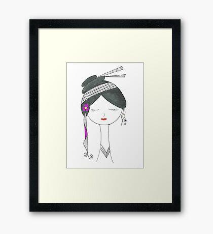 Geisha Doll Framed Print