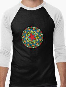 Flower Mandela Men's Baseball ¾ T-Shirt