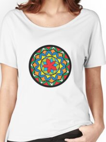 Flower Mandela Women's Relaxed Fit T-Shirt