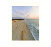 cable beach areal  Art Print
