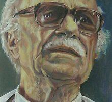 Ernesto Sabato, writer, colour by Natasa Ristic