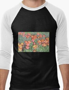 Pastel Tulips Men's Baseball ¾ T-Shirt